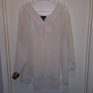 Summertime chiffon embroidered tunic